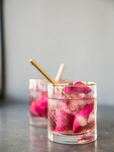 Romantische rozenpunch